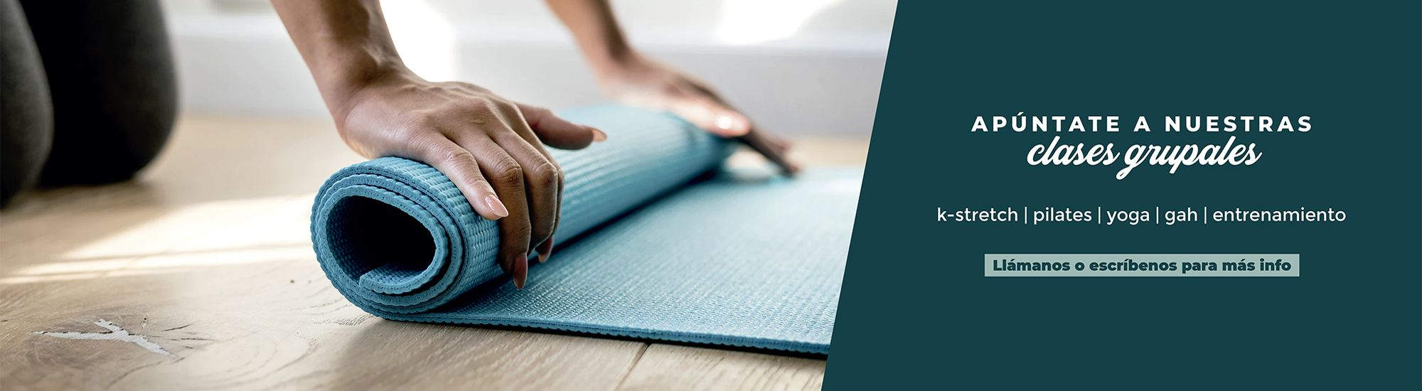 slider clases grupales pilates yoga kstretch gah fisioclinics bilbao